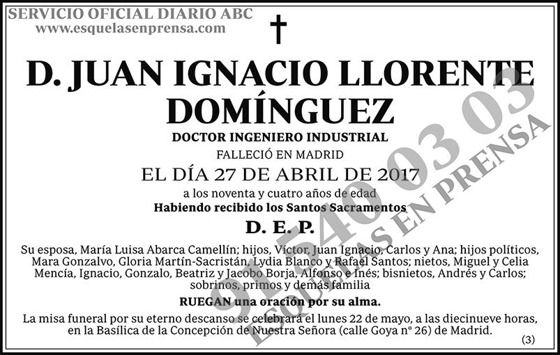 Juan Ignacio Llorente Domínguez